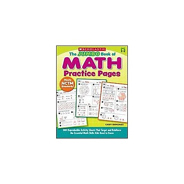 Scholastic The Jumbo Book of Math Practice Pages Math Workbook, Grade 1 - Grade 2 [Enhanced eBook]