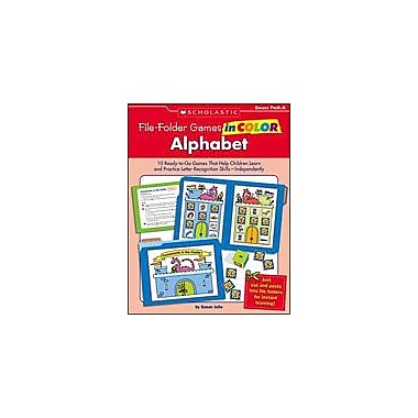 Scholastic File-Folder Games In Color: Alphabet Problem Solving Workbook, Kindergarten [Enhanced eBook]
