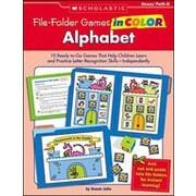 Scholastic File-Folder Games In Color: Alphabet Problem Solving Workbook, Kindergarten [Enhanced eBook]