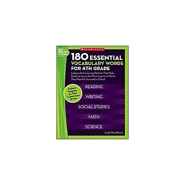 Scholastic 180 Essential Vocabulary Words for 4th Grade Language Arts Workbook, Grade 4 [Enhanced eBook]