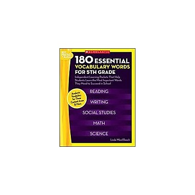 Scholastic 180 Essential Vocabulary Words for 5th Grade Language Arts Workbook, Grade 5 [eBook]