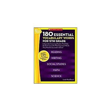 Scholastic 180 Essential Vocabulary Words for 5th Grade Language Arts Workbook, Grade 5 [Enhanced eBook]