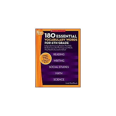 Scholastic 180 Essential Vocabulary Words for 6th Grade Language Arts Workbook, Grade 6 [eBook]