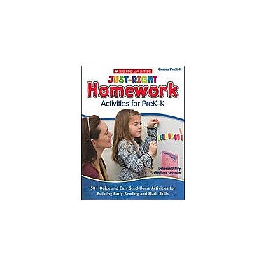 Scholastic Just-Right Homework Activities for Prek-K Business Workbook, Preschool - Kindergarten [eBook]
