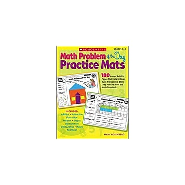 Scholastic Math Problem of the Day Practice Mats Math Workbook, Kindergarten - Grade 1 [Enhanced eBook]