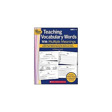 Scholastic Teaching Vocabulary Words With Multiple Meanings Language Arts Workbook, Grade 2 - Grade 4 [Enhanced eBook]