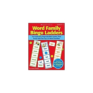 Scholastic Word Family Bingo Ladders Reading & Writing Workbook, Kindergarten - Grade 2 [Enhanced eBook]