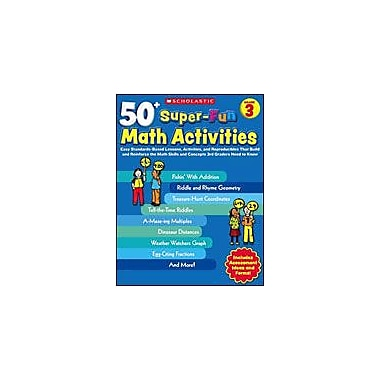 Scholastic 50+ Super-Fun Math Activities: Grade 3 Puzzles Workbook, Grade 3 [eBook]