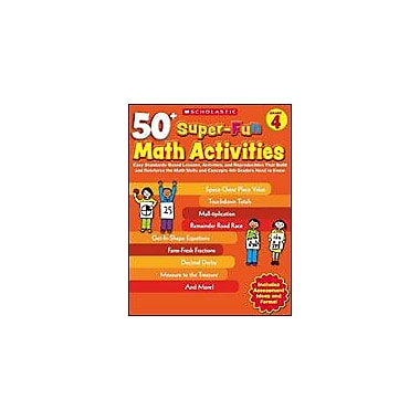 Scholastic 50+ Super-Fun Math Activities: Grade 4 Puzzles Workbook, Grade 4 [eBook]