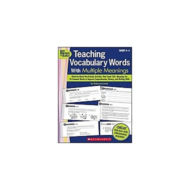 Scholastic Teaching Vocabulary Words With Multiple Meanings Language Arts Workbook, Grade 4 - Grade 6 [Enhanced eBook]