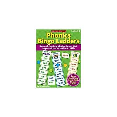 Scholastic Phonics Bingo Ladders Puzzles Workbook, Kindergarten - Grade 2 [eBook]