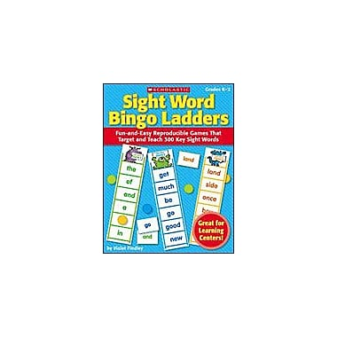 Scholastic Sight Word Bingo Ladders Puzzles Workbook, Kindergarten - Grade 2 [eBook]