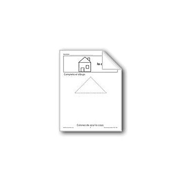 Evan-Moor Educational Publishers Finish the Picture: the House Language Arts Workbook, Preschool - Grade 1 [eBook]