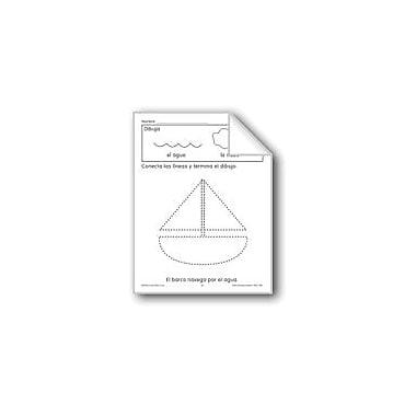 Evan-Moor Educational Publishers Trace/Complete: Sailboat Language Arts Workbook, Preschool - Grade 1 [eBook]