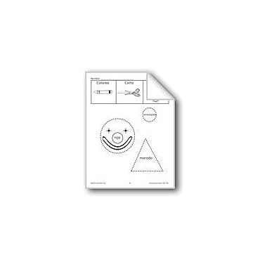 Evan-Moor Educational Publishers Color/Cut/Paste: Clown Face Language Arts Workbook, Preschool - Grade 1 [eBook]