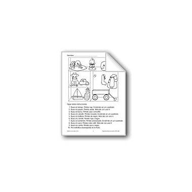 Evan-Moor Educational Publishers Follow Directions: Hat/Parrot/Whale Language Arts Workbook, Grade 1 - Grade 3 [eBook]