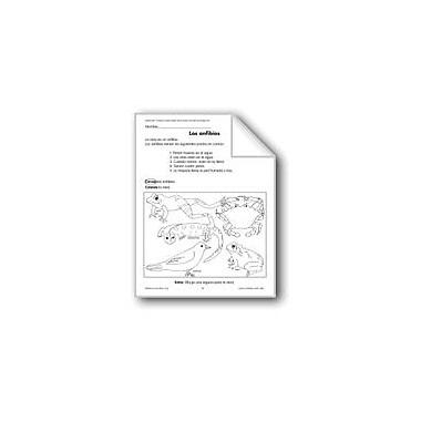 Evan-Moor Educational Publishers Amphibians/Los Anfibios and Frogs/Las Ranas Language Arts Workbook, Grade 1 - Grade 3 [eBook]