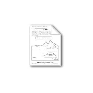 Evan-Moor Educational Publishers The Moon/La Luna Language Arts Workbook, Grade 1 - Grade 3 [eBook]