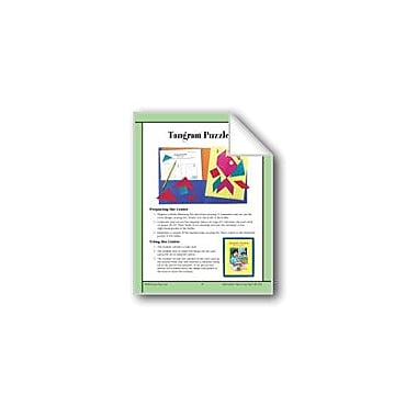 Evan-Moor Educational Publishers Tangram Puzzlers (Geometric Shapes) Math Workbook, Grade 4 - Grade 6 [eBook]