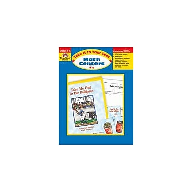 Evan-Moor Educational Publishers Take It to Your Seat Math Centers Math Workbook, Grade 4 - Grade 6 [Enhanced eBook]