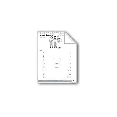 Evan-Moor Educational Publishers Whole, Fraction, Decimal (Relationships) Math Workbook, Grade 3 [eBook]