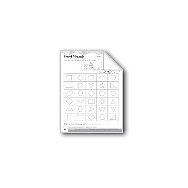 Evan-Moor Educational Publishers Secret Message (Describe Plane Geometric Figures) Math Workbook, Grade 3 [eBook]