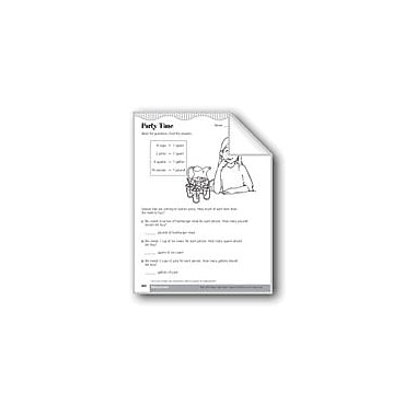 Evan-Moor Educational Publishers Party Time (Unit Conversions Within A System of Measurement) Math Workbook, Grade 3 [eBook]