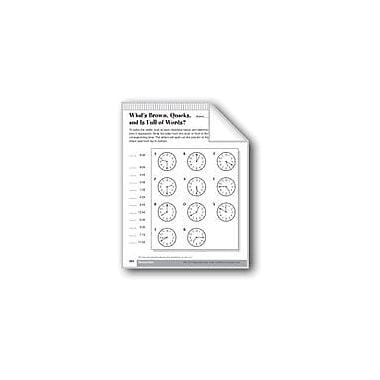 Evan-Moor Educational Publishers Telling Time/Calculating Elapsed Time Math Workbook, Grade 4 [eBook]