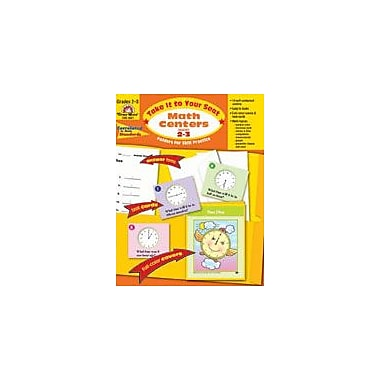 Evan-Moor Educational Publishers Take It to Your Seat Math Centers-3 Math Workbook, Grade 2 - Grade 3 [Enhanced eBook]