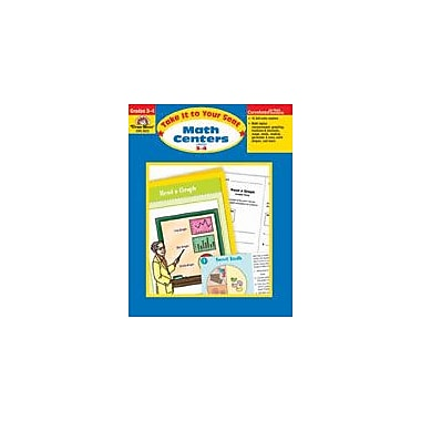 Evan-Moor Educational Publishers Take It to Your Seat Math Centers-4 Math Workbook, Grade 3 - Grade 4 [Enhanced eBook]