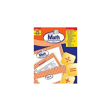 Evan-Moor Educational Publishers Math Activity Cards, Math Cooperative Learning Cards Workbook [Enhanced eBook]