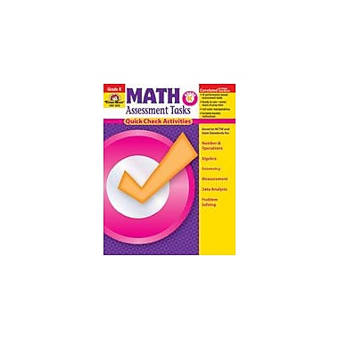Evan-Moor Educational Publishers Math Assessment Tasks, K Math Workbook, Kindergarten [Enhanced eBook]