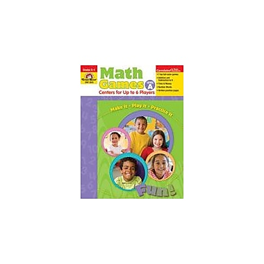 Evan-Moor Educational Publishers Math Games: Centers For Up to Six Players Level A Workbook [Enhanced eBook]