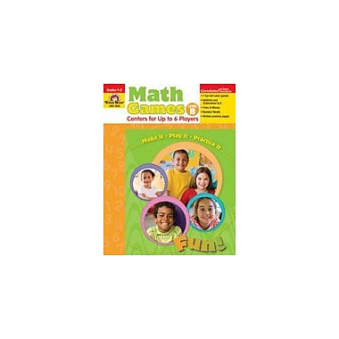 Evan-Moor Educational Publishers Math Games: Centers For Up to Six Players Level B Workbook, Grade 1 - Grade 2 [Enhanced eBook]