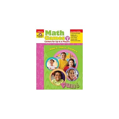 Evan-Moor Educational Publishers Math Games: Centers For Up to Six Players Level C Workbook, Grade 2 - Grade 3 [Enhanced eBook]