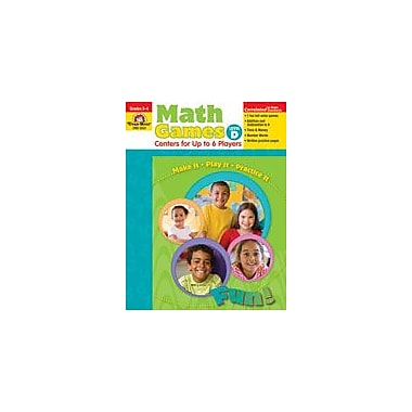 Evan-Moor Educational Publishers Math Games: Centers For Up to Six Players Level D Workbook, Grade 3 - Grade 4 [Enhanced eBook]
