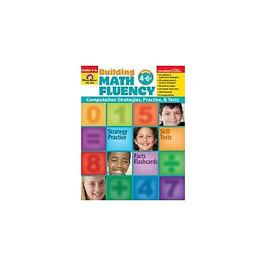 Evan-Moor Educational Publishers Building Math Fluency Math Workbook, Grade 4 - Grade 8 [Enhanced eBook]