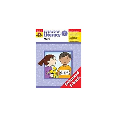 Evan-Moor Educational Publishers Everyday Literacy: Math: Kindergarten Math Workbook, Kindergarten [Enhanced eBook]