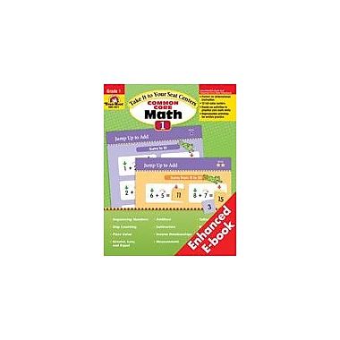 Evan-Moor Educational Publishers Take It to Your Seat: Common Core Math Centers: Grade 1 Math Workbook, Grade 1 [Enhanced eBook]