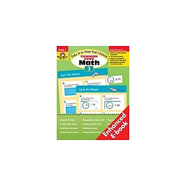 Evan-Moor Educational Publishers Take It to Your Seat: Common Core Math Centers: Grade 3 Math Workbook, Grade 3 [Enhanced eBook]