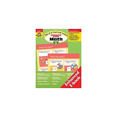 Evan-Moor Educational Publishers Take It to Your Seat: Common Core Math Centers: Grade 5 Math Workbook, Grade 5 [Enhanced eBook]