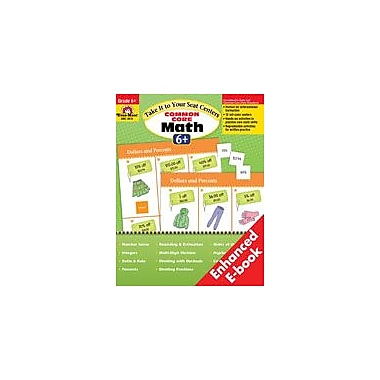 Evan-Moor Educational Publishers Take It to Your Seat: Common Core Math Centers: Grade 6 Math Workbook, Grade 6 [Enhanced eBook]