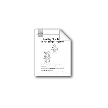 Evan-Moor Educational Publishers Reading Directions to Put Things Together Language Arts Workbook, Grade 1 - Grade 3 [eBook]