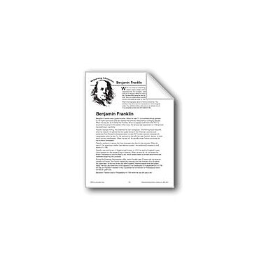 Evan-Moor Educational Publishers Sequencing Information: Benjamin Franklin Language Arts Workbook, Grade 4 - Grade 6 [eBook]