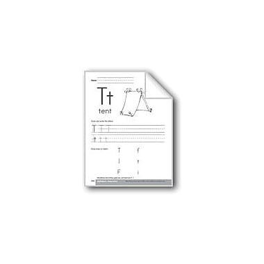 Evan-Moor Educational Publishers Traditional/Modern Manuscript Writing: Tt Workbook, Preschool - Kindergarten [eBook]