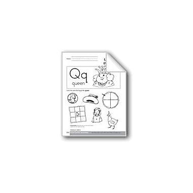 Evan-Moor Educational Publishers Sound-Symbol Association: Initial Q Language Arts Workbook, Preschool - Kindergarten [eBook]