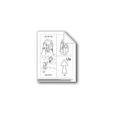 Evan-Moor Educational Publishers Little Alphabet Reader: Uu Up Language Arts Workbook, Preschool - Kindergarten [eBook]