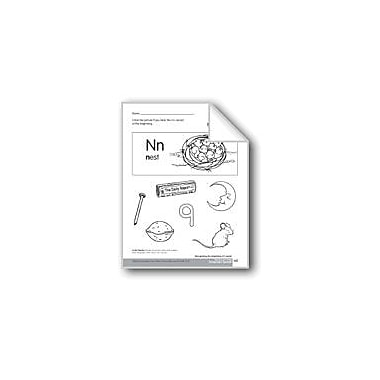Evan-Moor Educational Publishers Beginning and Ending Sounds of /N/ Language Arts Workbook, Kindergarten - Grade 1 [eBook]