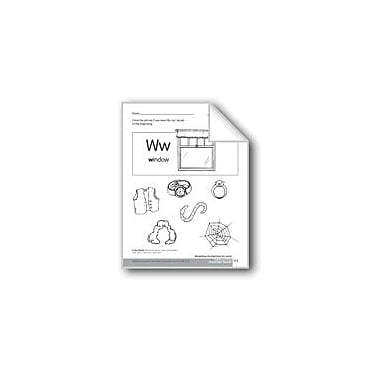 Evan-Moor Educational Publishers Beginning and Ending Sounds of /W/ Language Arts Workbook, Kindergarten - Grade 1 [eBook]