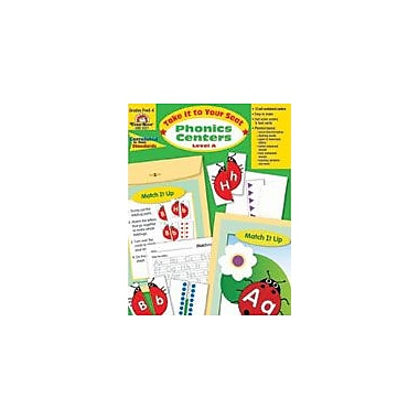 Evan-Moor Educational Publishers Take It to Your Seat Phonics Centers, Level A, Grade Pk-K Workbook [Enhanced eBook]